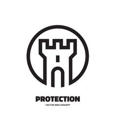 protection - logo template concept vector image
