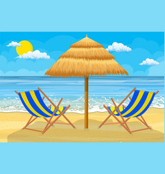 Relaxing scene on a breezy day vector