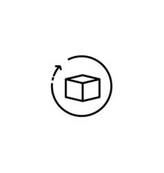 Return delivery icon vector
