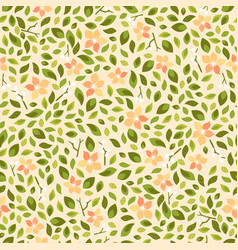 seamless floral pattern background for invitation vector image