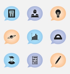 set of 9 editable education icons includes vector image