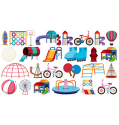 set playground equipment vector image