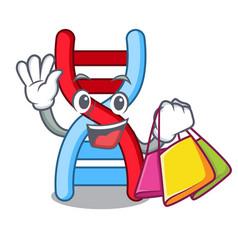 Shopping dna molecule character cartoon vector
