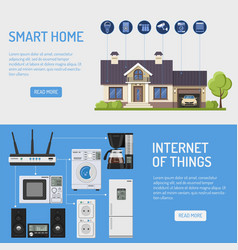 smart house and internet of things banners vector image