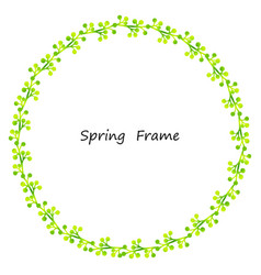 Spring frame made up of leaves vector