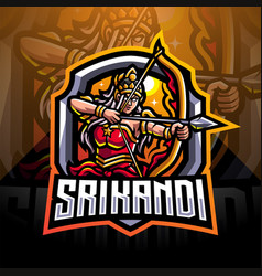 srikandi esport mascot logo design vector image