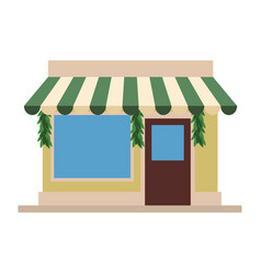 Store shop building vector
