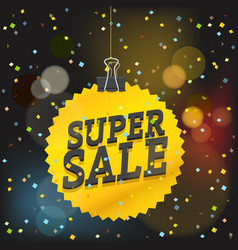 super sale concept shopping sale luxury logo vector image