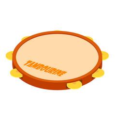 Tambourine icon isometric style vector
