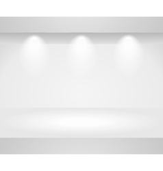 Three dimensional template of a blank shelf vector image