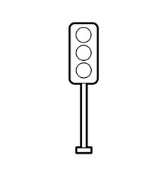 Traffic lights electric equipment control vector