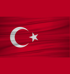 turkey flag flag of turkey blowig in the wind vector image