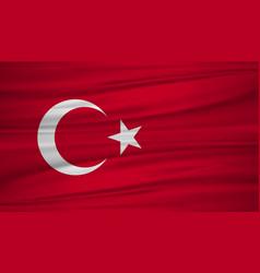 Turkey flag flag turkey blowig in wind vector