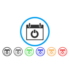 Turn on calendar day rounded icon vector