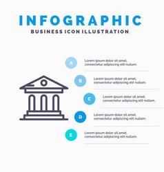 University bank campus court blue infographics vector