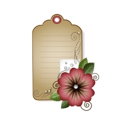 Vintage card with flowers vector