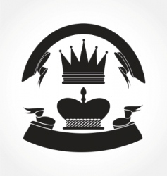 vintage crown vector image