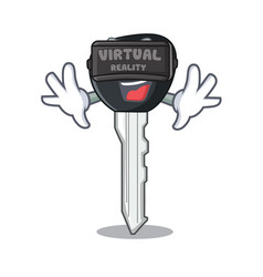 Virtual reality mascot ilustration featuring on vector