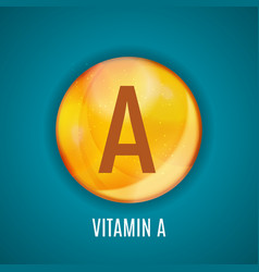 vitamin a icon antioxidant vector image