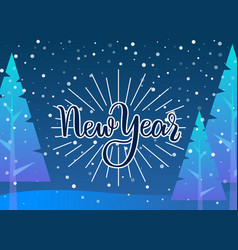 winter holidays greeting card new year vector image