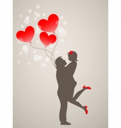 Young people in love vector