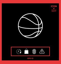 basketball ball line icon vector image vector image