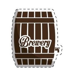 Brown barrel icon image design vector