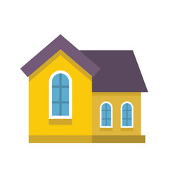 colorful flat residential house vector image