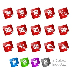 Network Server Stickers vector image vector image