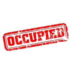 Occupied rubber stamp vector image