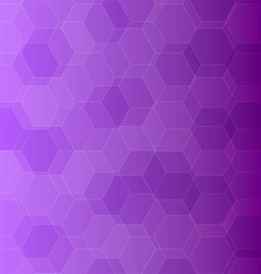 Abstract violet background with hexagons vector image vector image