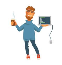 digital specialist or computer web programmer vector image vector image