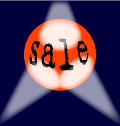 Globe Sale Sign vector image vector image