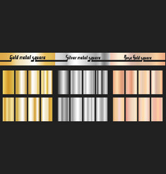 gold silver and rose gold gradient vector image