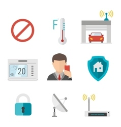 Remote home control system icons vector image