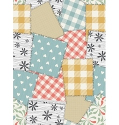 Seamless background pattern from scraps of fabric vector image