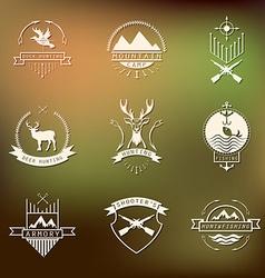 Set of camping and hunting logos Mountain vector image vector image