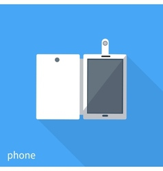 Smartphone business concept of flat design vector image vector image