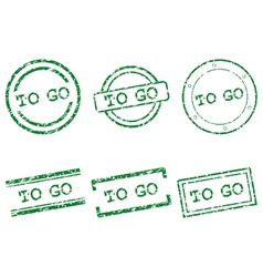 To go stamps vector image vector image