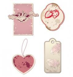 vintage valentines day labels vector image vector image