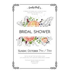 bridal shower boho art wedding watercolor vector image