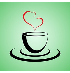 coffee lovers vector image vector image