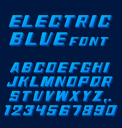 electric blue font letters and numbers vector image