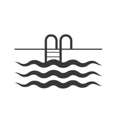 Pool icon Swimming design graphic vector image