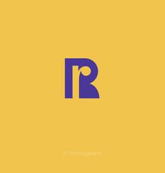 r monogram r logo vector image