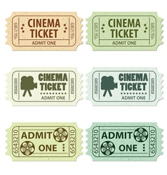 set of cinema tickets vector image vector image