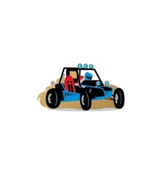Buggy race car sign vector image