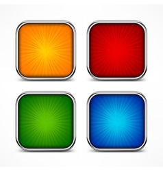 Colored square buttons vector image