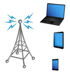 communication antenna and electric device vector image vector image