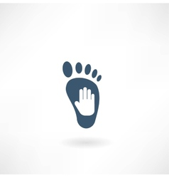 creative foot care icon vector image